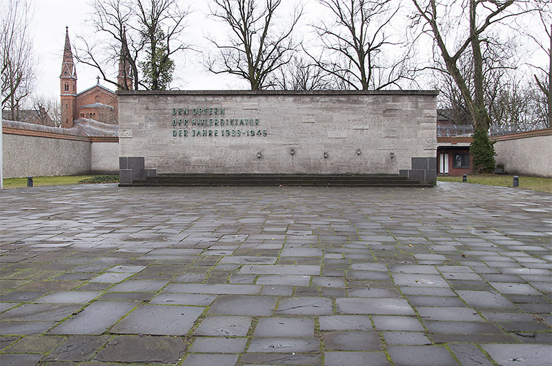 Memorial wall at Plötzensee Memorial Center